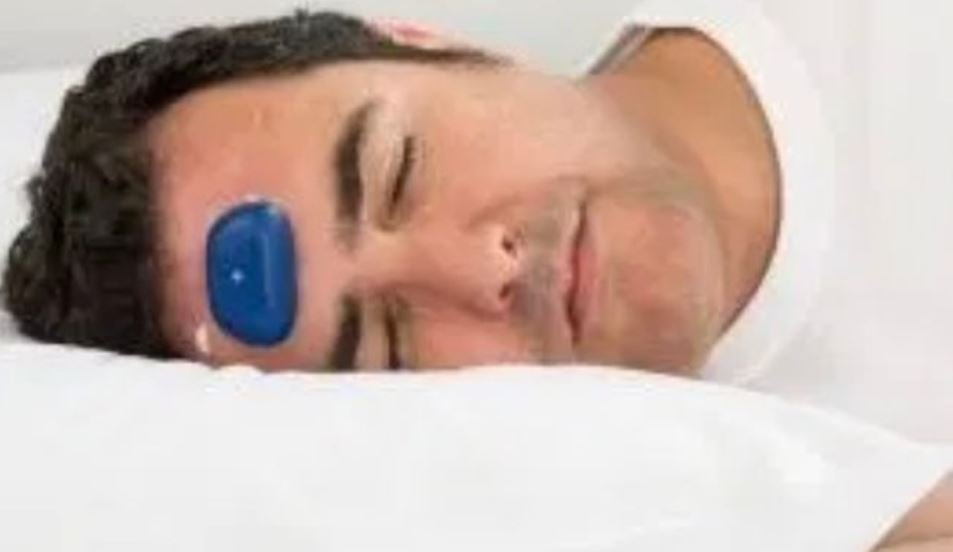 new smart device that you stick to forehead could be the solution to stopping your partner's snores
