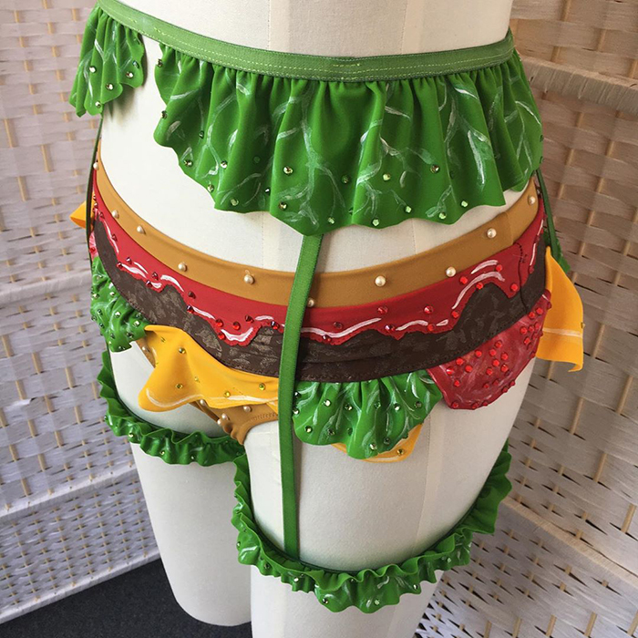 this cheeseburger lingerie set turns you into a sexy cheeseburger