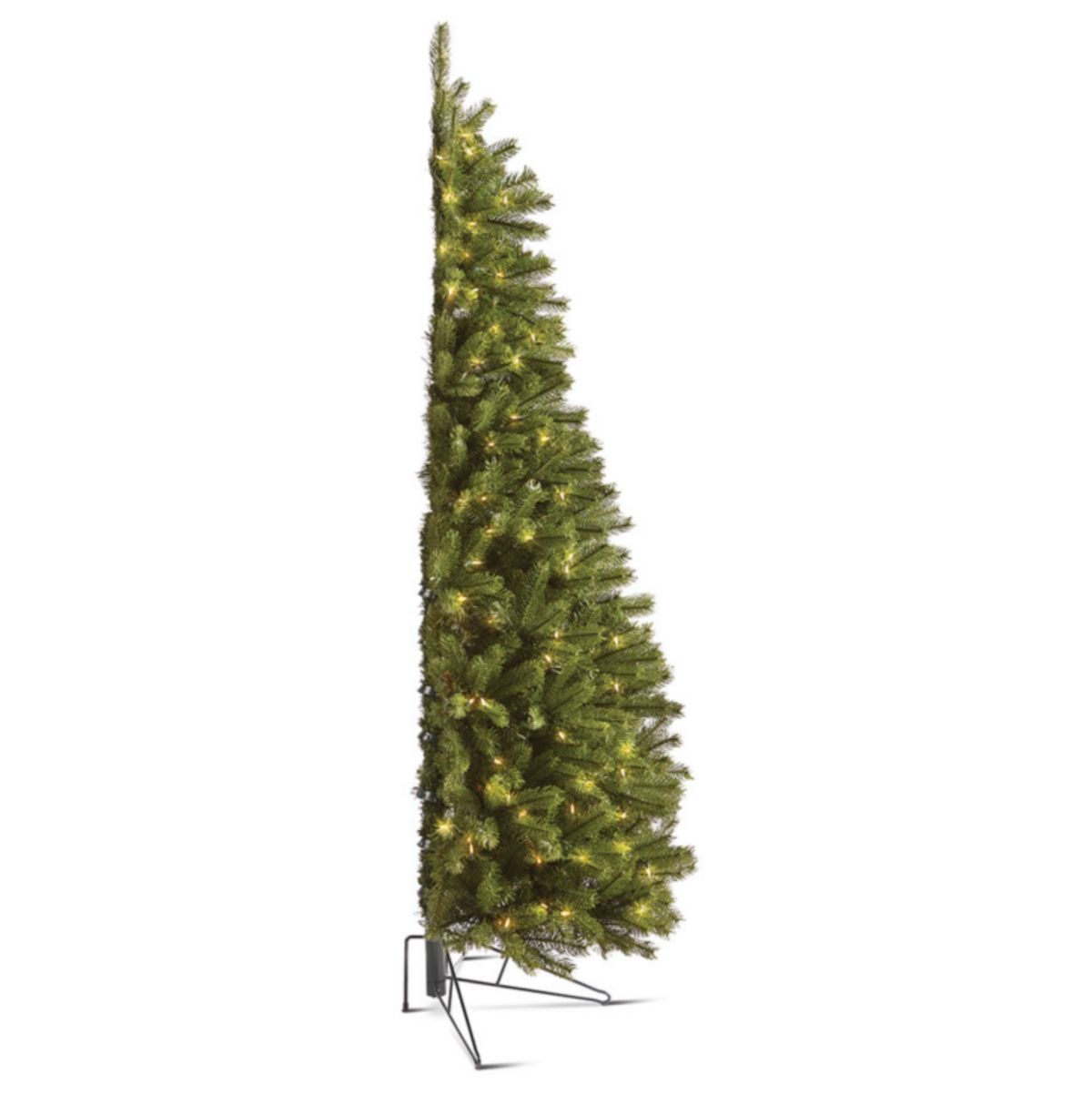 half-christmas trees exist for people who hate decorating the back