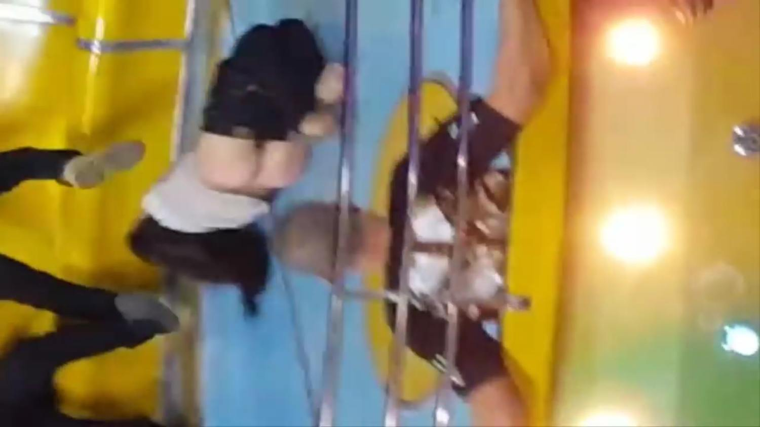 woman who went commando loses her pants on a wild carnival ride