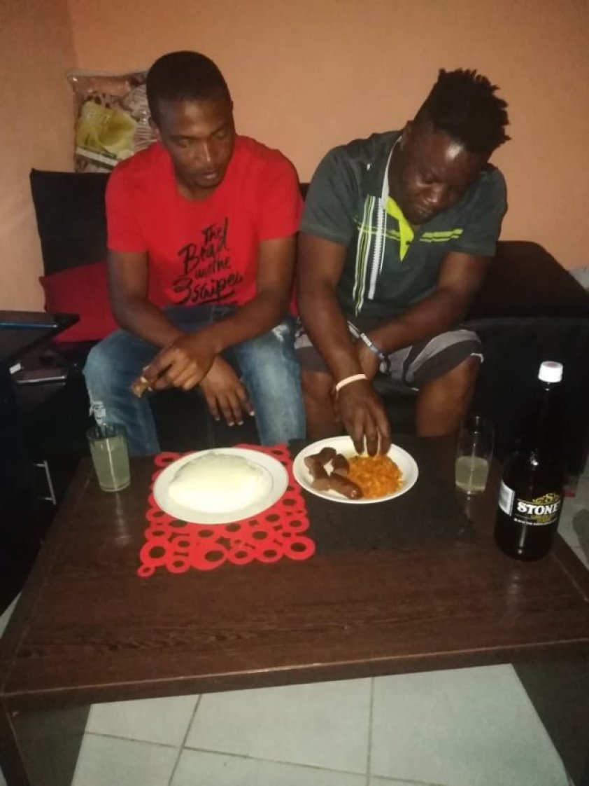 man takes a selfie with his best friend and wife after he caught them cheating (photos)