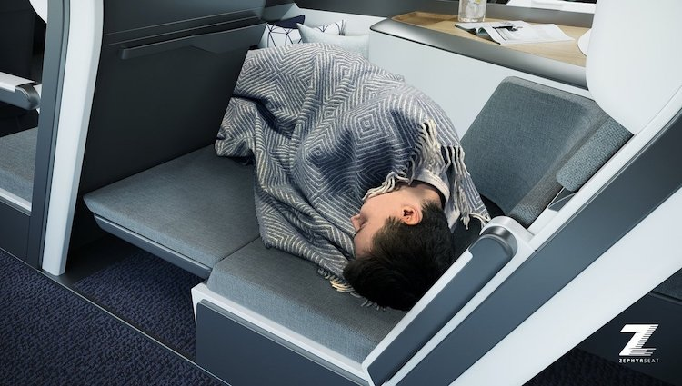 airline seat designed to allow economy passengers to lie down and sleep