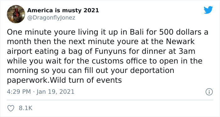 influencer brags about her easy life in bali on twitter, she gets deported over it