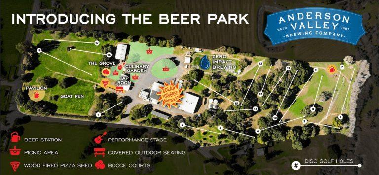 anderson valley opens 30-acre outdoor utopia dubbed 'beer park'
