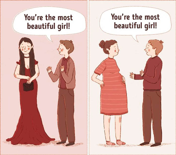 13 comics depicting the major differences between lust and love