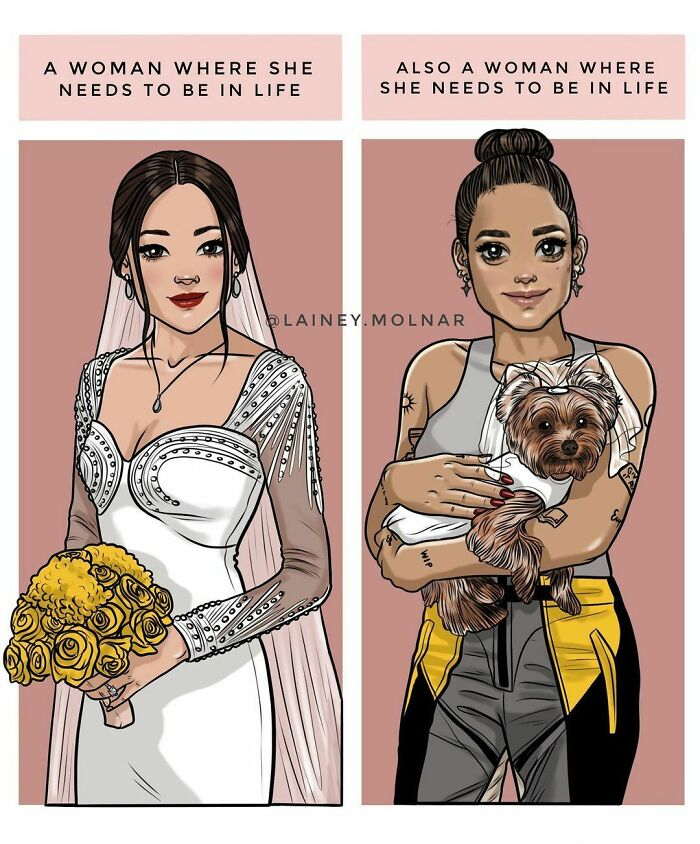 27 illustrations from an independent modern woman as she shares her thoughts