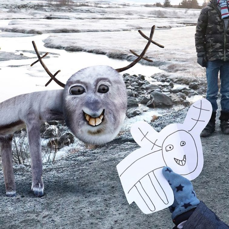 dad brings kids' drawings to life and the results are weirdly realistic