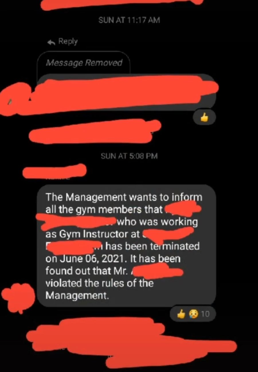 Gym Instructor Fired After Video Of Him Groping Customer Goes Viral