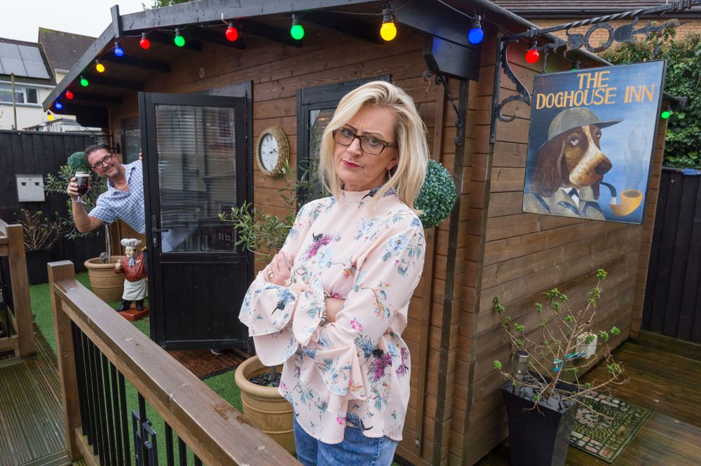 Wife Keeps Her Husband At Home By Creating Her Own Backyard Pub