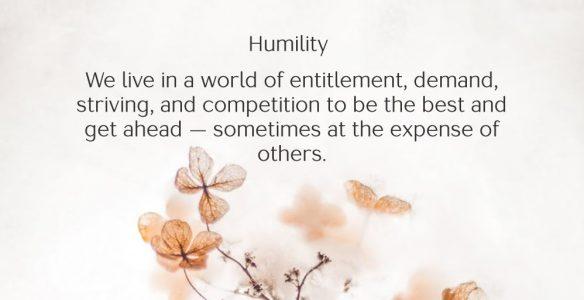 A Humble Posture