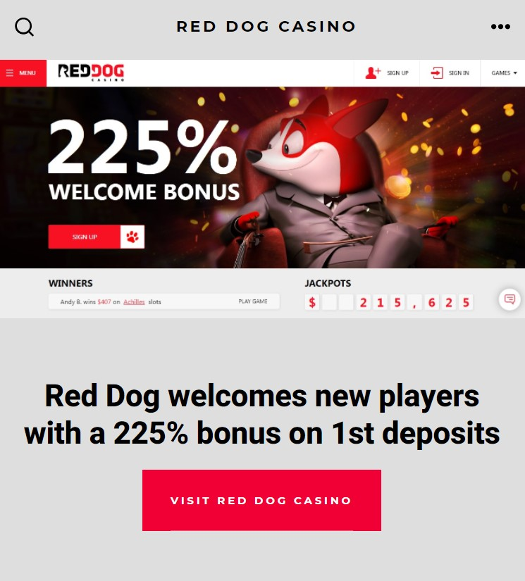 Red Dog Casino App