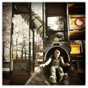 Oli on the slide in Lugano