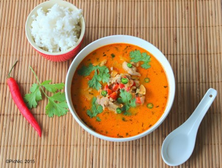 Thai red curry above with text
