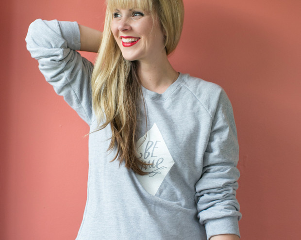 Lindsay Letters Be True Sweatshirt // thoughtsbynatalie.com