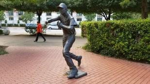 A statue honoring Craig Biggio
