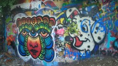 Some of the artwork at Graffiti Park
