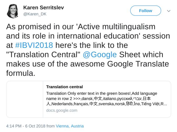 Google Sheet example 1