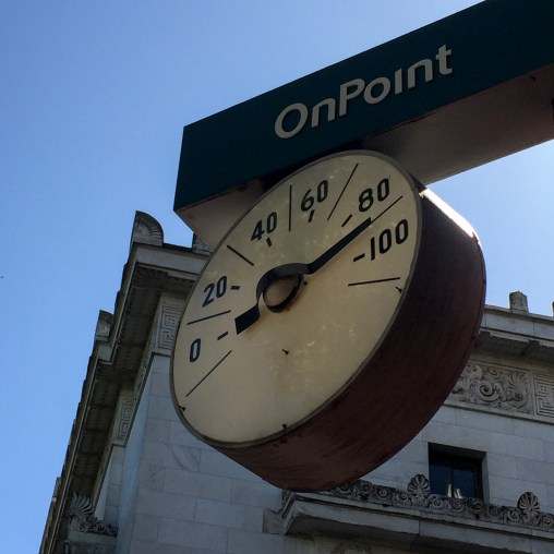 Warm day.