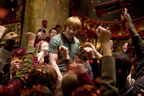 Ron's success with Hermione was well received.