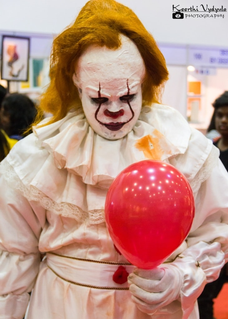 Cosplayer dressed as Pennywise The dancing clown