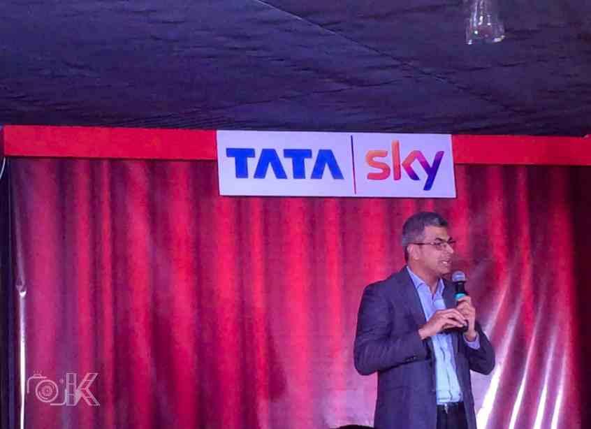 Arun Unni talking at Tata Sky Telugu Cinema Launch