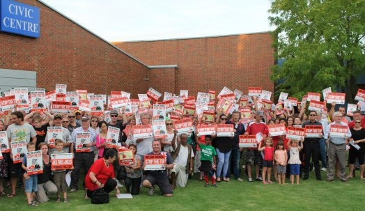 Local residents pleading to councillors to reject the expansion at Melton Council offices. Picture: Aleczander Gamboa