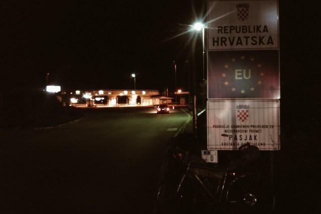 Passage de la frontière croate