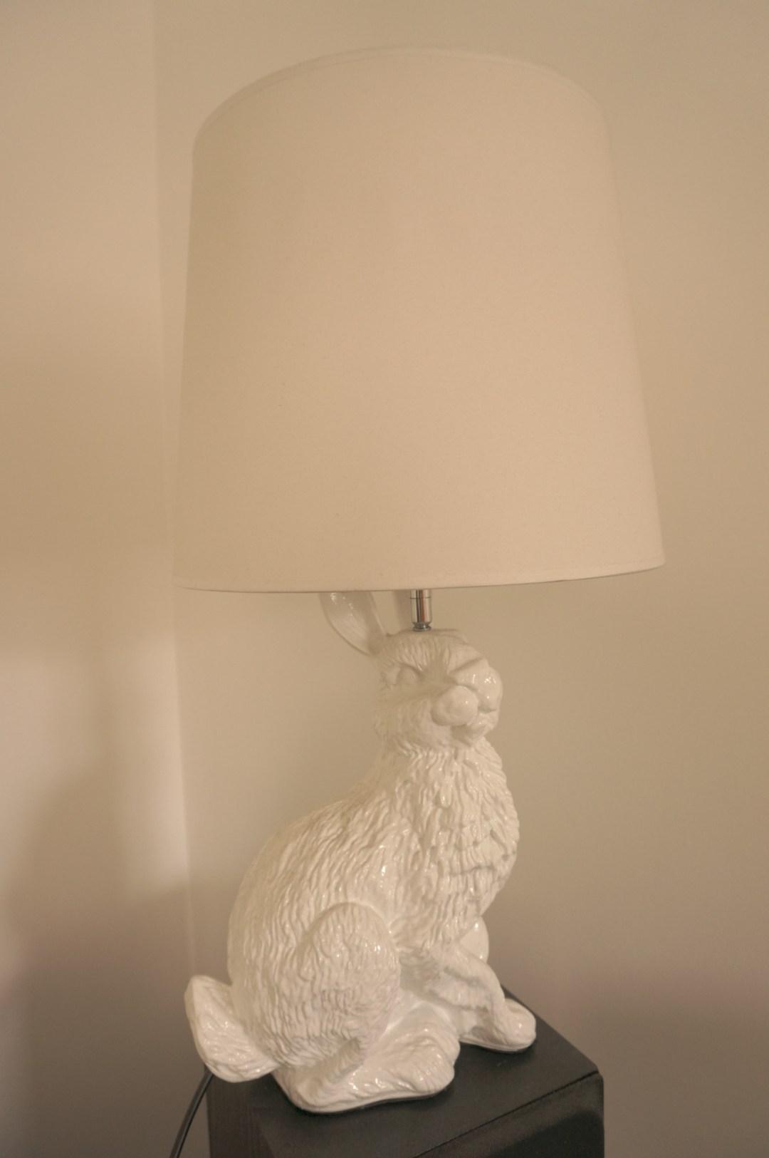 Ceramic Rabbit Lamp