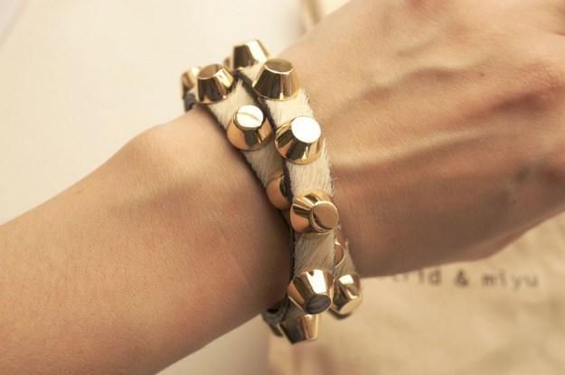 astrid and miyu studded bracelet
