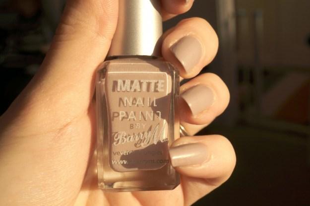 barry m matte nail paint review