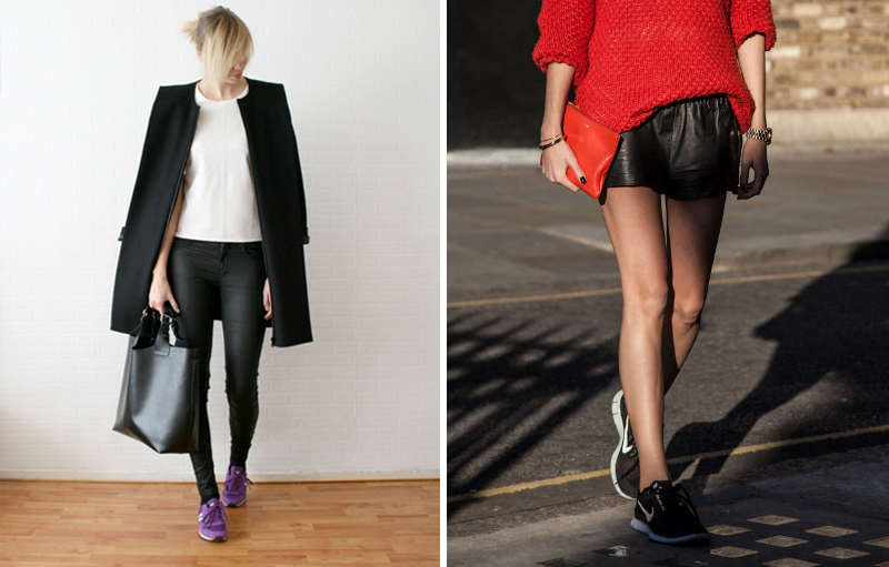 fashion blogger running shoes