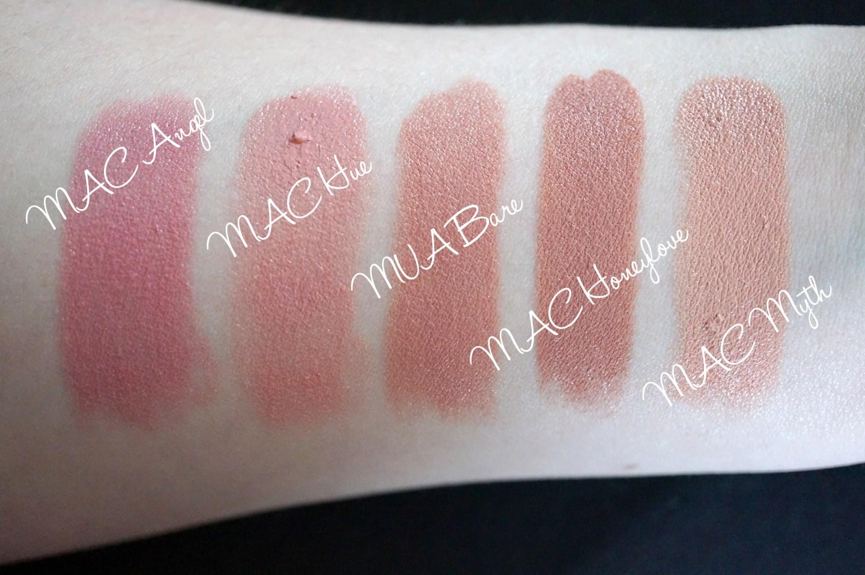 mac nude lipsticks swatches_edited-1