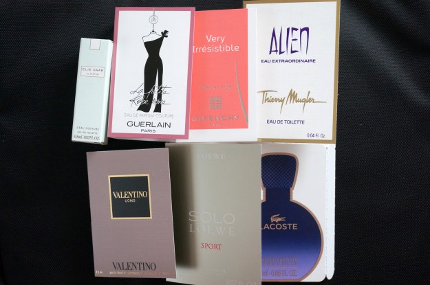 the fragrance shop samples