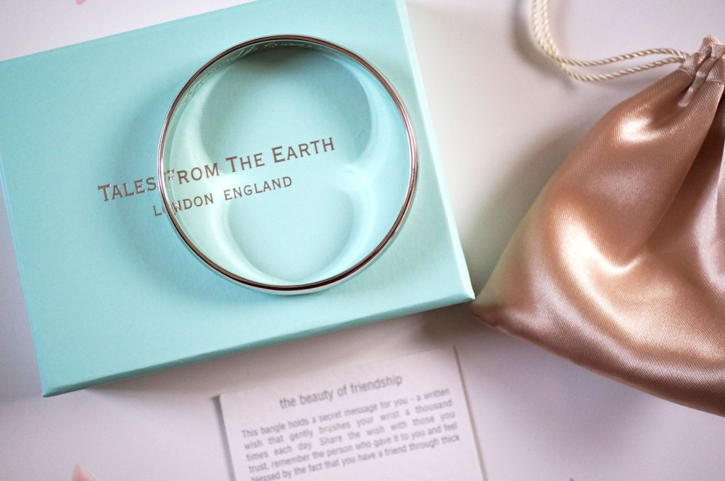 Gift Idea   Tales From The Earth Engraved Silver Bracelet