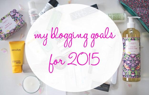 my blogging goals for 2015