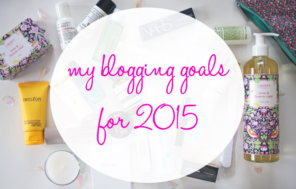 my blogging goals for 2015