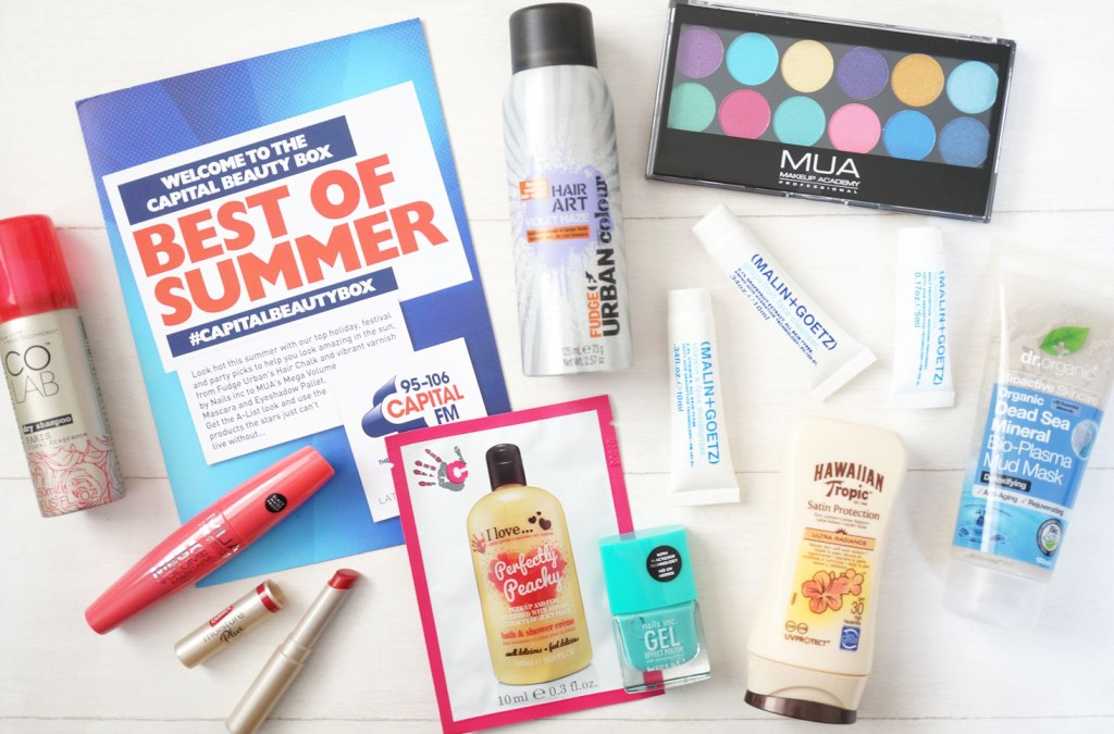 Latest In Beauty – Capital FM Best Of Summer Beauty Box