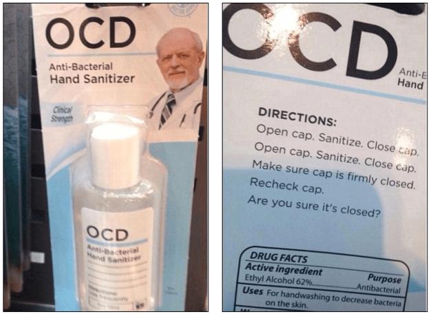 ocd hand sanitiser paperchase