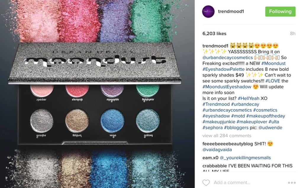 Coming Soon – The Urban Decay Moondust Palette!