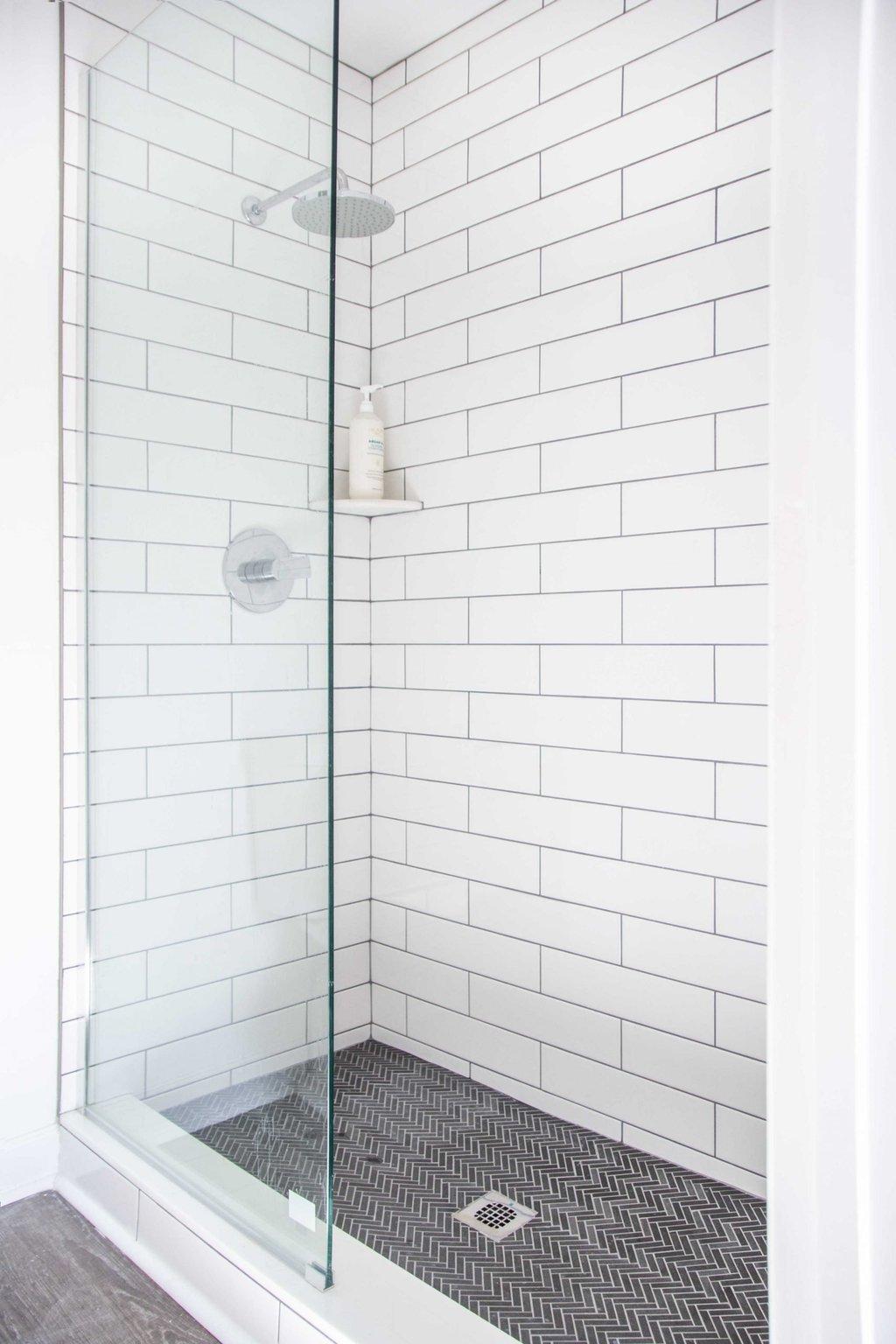 dove hill master bathroom shower reveal