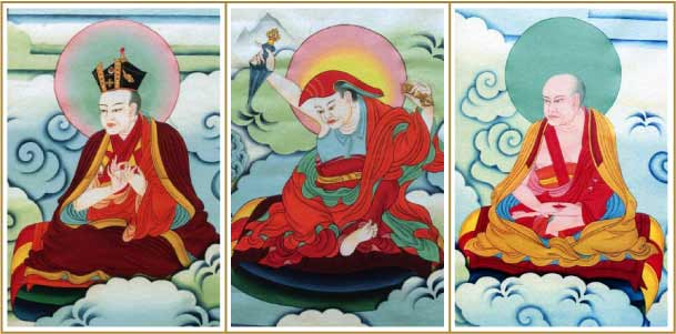 The 7th Karmapa, Shubu Palgyi Singe and the 1st Thrangu Tulku