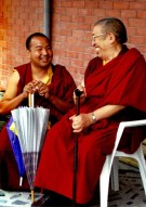 Rinpoche and Lama Pema