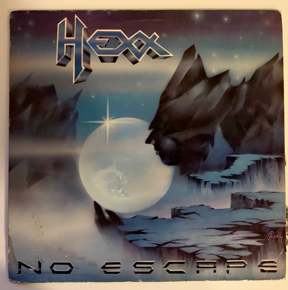 "Cover Image Hexx Classic Album ""No Escape"" 1984 Shrapnel Records"