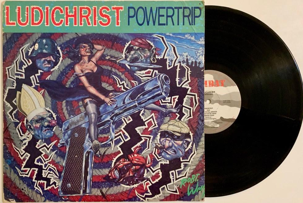 Ludichrist Powertrip Vinyl LP Thrash Metal ORIGINAL PRESSING Combat 88561-8246-1