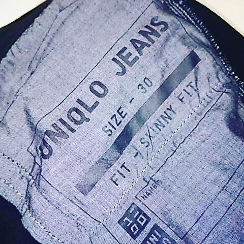 ユニクロジーンズ スキニーフィットをさらにテーパード加工。#洋服のリフォーム #スレッド名古屋 #名古屋 #栄 #ファッション #テーパード #ユニクロ #skinnyfit from Instagram