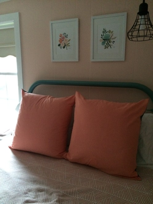 The finished Euro Pillow Cases are reversible!
