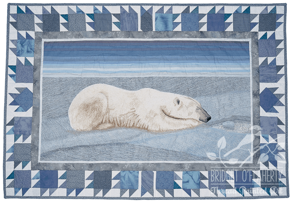 Iqaluit: Serenity thread painting by Bridget O'Flaherty