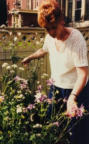Kathy in her Garden