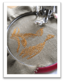 small embroidery in a hoop