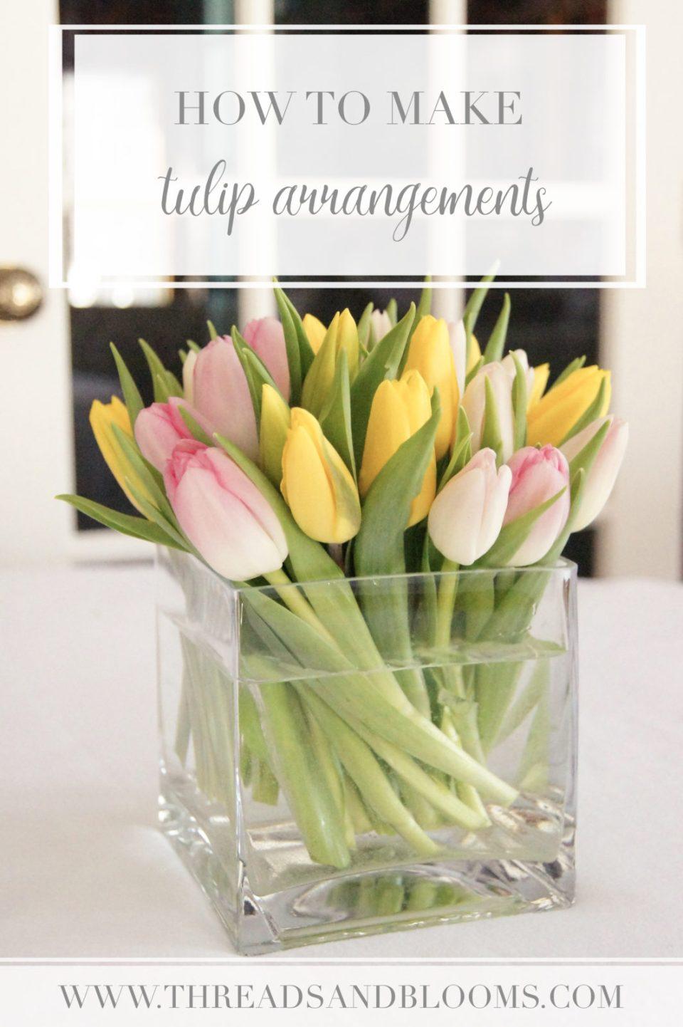 4 Tulip Arrangements Step By Step How To Make A Tulip Arrangement